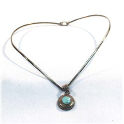 Taxco Silver Turquoise Necklace