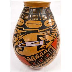Mata Ortiz Polychrome Lizard Jar