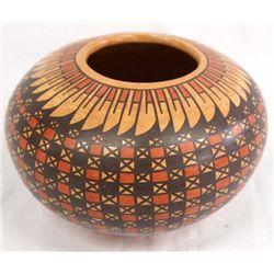Mata Ortiz Marbelized Bowl - Tito Enriquez