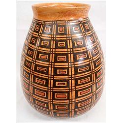 Mata Ortiz Marbelized Tall Jar - Tito Enriquez