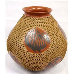 Mata Ortiz Very Large Textured Jar - Jose Gonzalez
