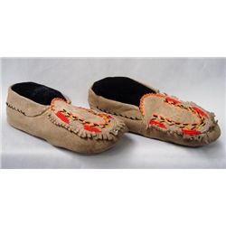 Mid-1900's Great Lakes Beaded Moccasins