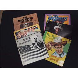 Vintage Cowboy Singer Record Albums