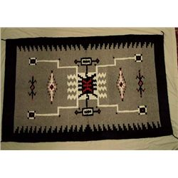 Mexican Hand Woven Large Wool Rug