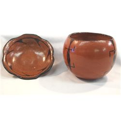 Maricopa Pottery - Dish and Bowl- Unsigned
