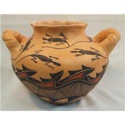 Acoma Double Handled Lizard Vase - Sharon Stevens