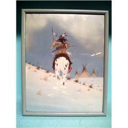 Framed Print Native American Horseman  - Vann