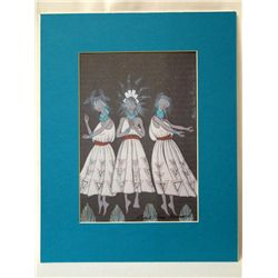 Navajo-Santa Clara Signed Print-Michelle Sisneros