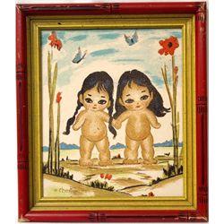 Framed Silkscreen Print - Gerda Christofferson