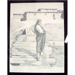 1993 Paula Beck Print ''Zuni Governor''