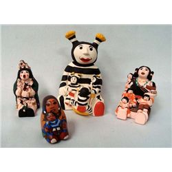 4 Miniature Story Teller Dolls