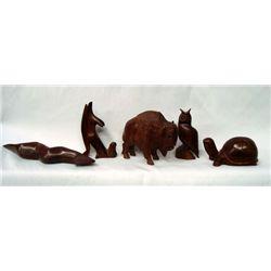 5 Iron Wood Animals