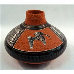 Navajo Etched Pottery - EY Dineh