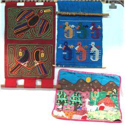 Cuna Mola Cloth, Zapateca Weaving & Arpillera
