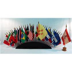 Flags Of The World On Stand