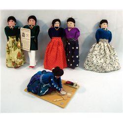 6 Navajo Hand Made Dolls