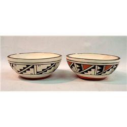 2 Acoma Polychrome Bowls