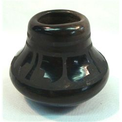 2 Mata Ortiz Black On Black Pottery Signed