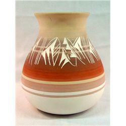 Large Navajo Etched Jar Signed