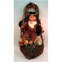 Indian Doll & Cradle Board