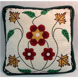 Plains Indian Hand Beaded Pillow