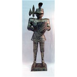 Mexican Tin Display Knight In Armour