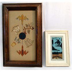 Navajo Framed Sand Paintings