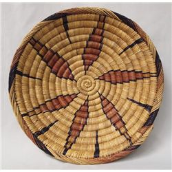Moroccan Large Tri-color Bowl Shaped Woven Basket
