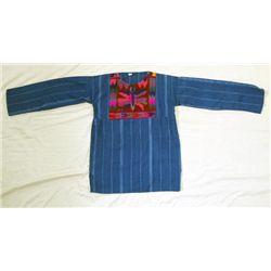 Guatemalan Woven Indigo Blue Cotton Shirt