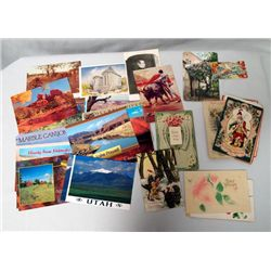 Large Collection Vintage Postcards