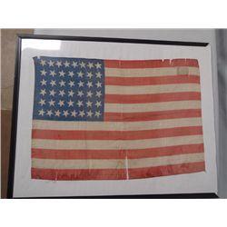 Antique Small Silk 44 Star U.S. Flag
