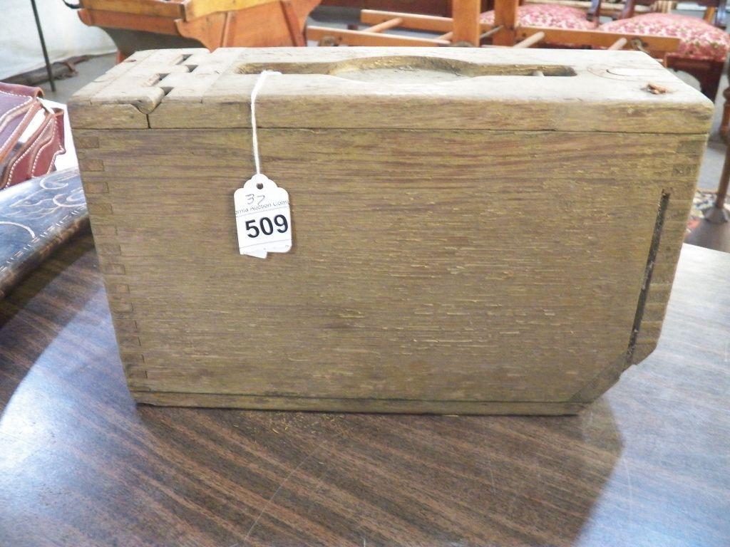 Vintage Wood Ammo Box