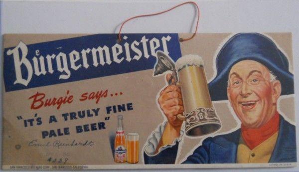 Burgermeister Beer Ad 1947