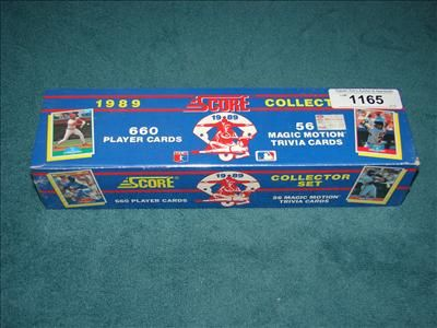 Unopened 1989 Score Baseball Card Collector Set