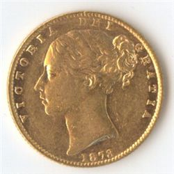 1873 S Shield Sovereign