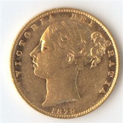 1879 S Shield Sovereign