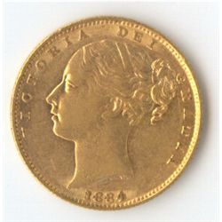 1884 S Shield Sovereign