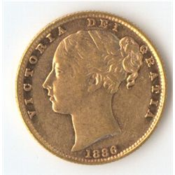 1886 S Shield Sovereign