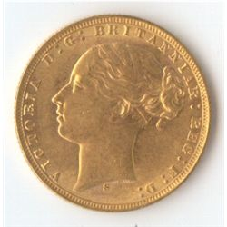 1876 S YH Sovereign
