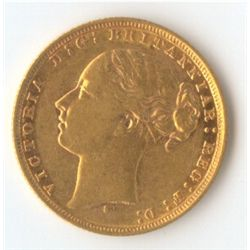 1879 S YH Sovereign