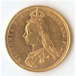 1887 S Jubilee Sovereign