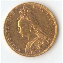 1887 M Jubilee Sovereign
