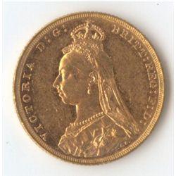 1889 M Jubilee Sovereign