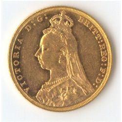 1890 M Jubilee Sovereign