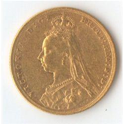 1891 M Jubilee Sovereign