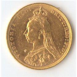 1892 M Jubilee Sovereign
