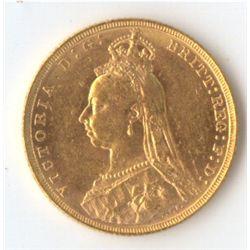 1893 M Jubilee Sovereign