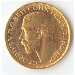 1921 P George V Sovereign