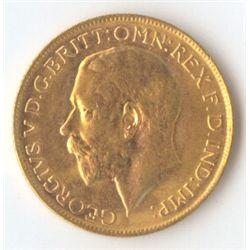1923 P George V Sovereign