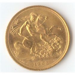 Great Britain QE 11 Sovereign 1963